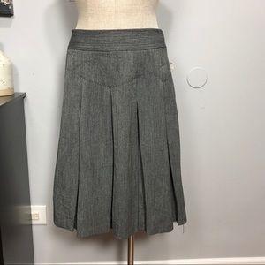 NWT evelyn Anthropologie pleated Skirt Sz 12